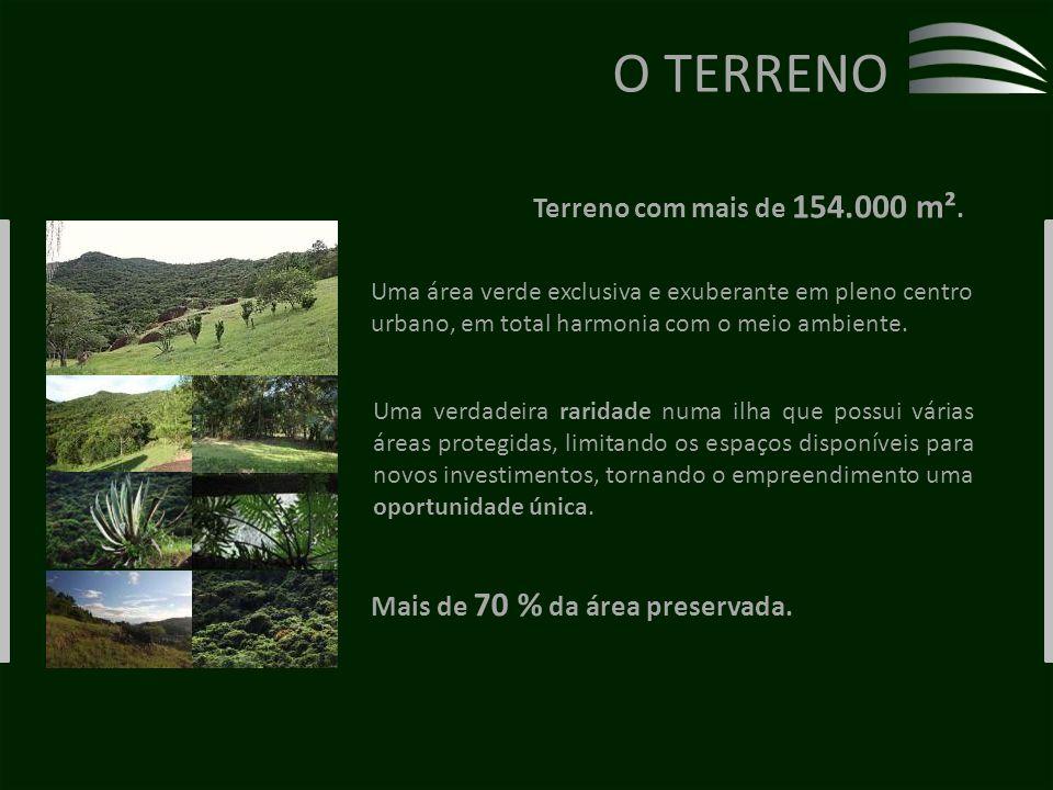 O TERRENO Terreno com mais de 154.000 m².