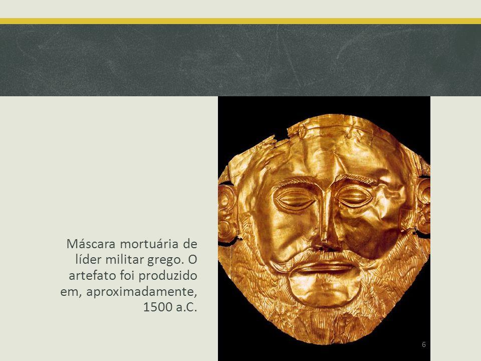 Máscara mortuária de líder militar grego
