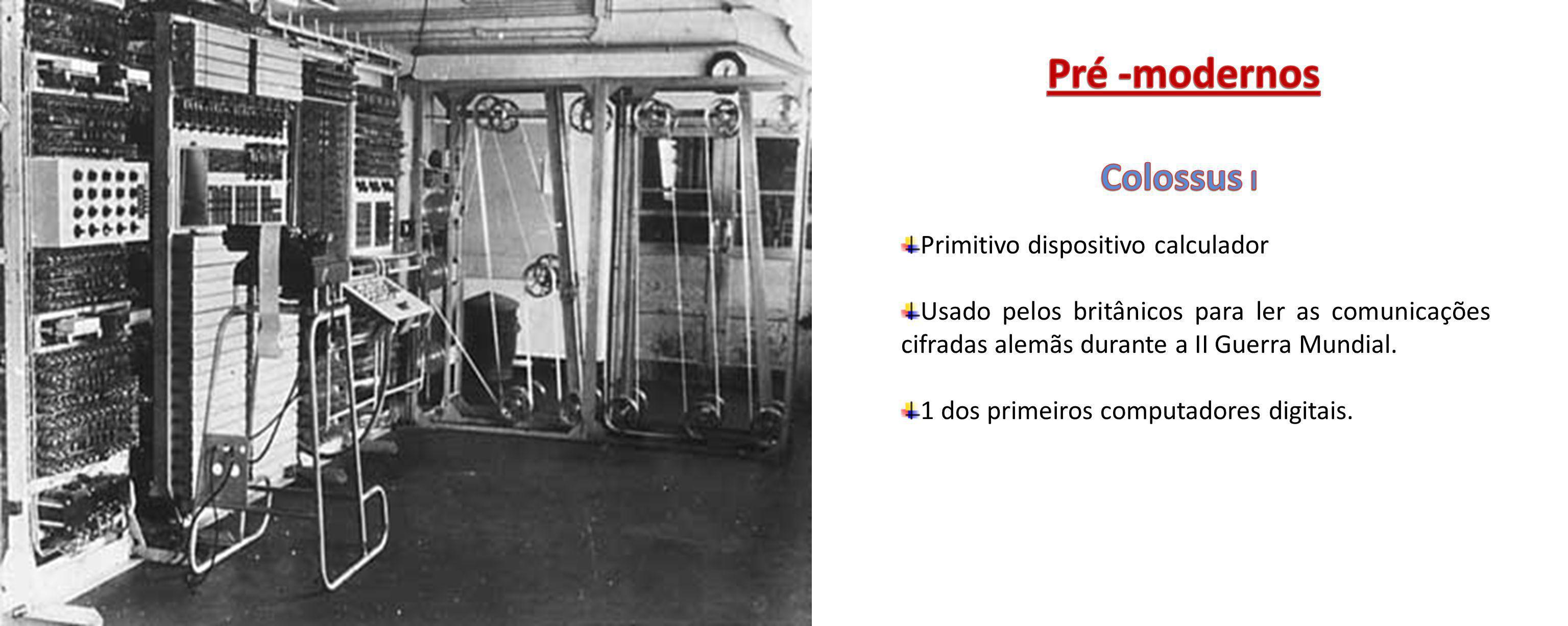 Pré -modernos Colossus I Primitivo dispositivo calculador