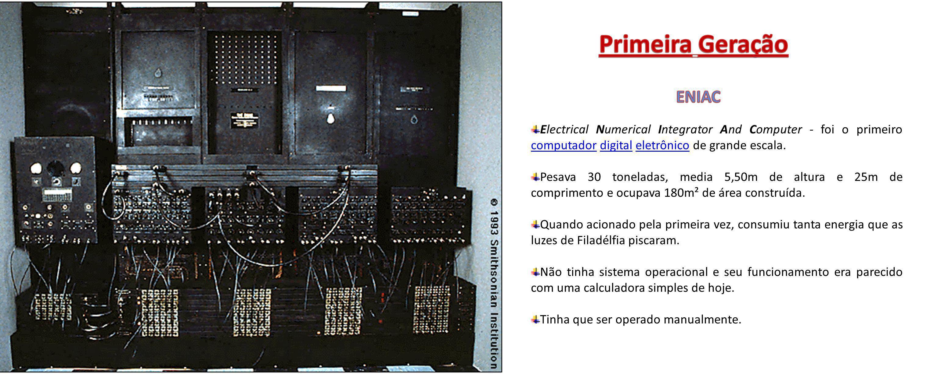 Primeira Geração ENIAC