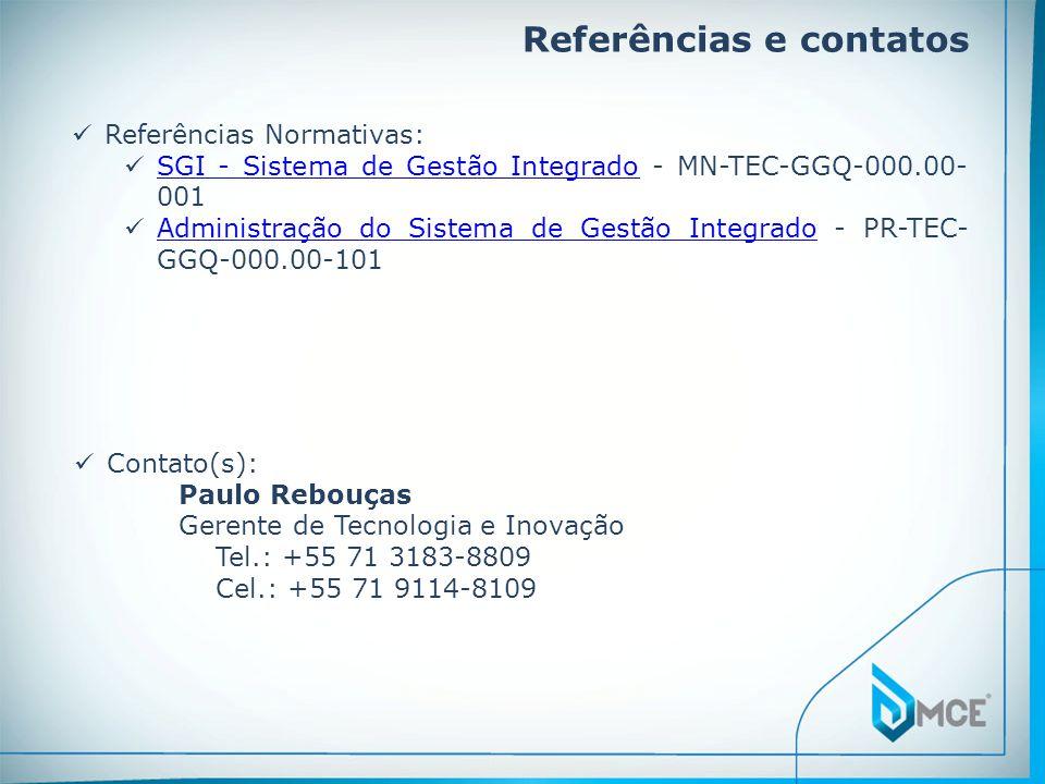 Referências e contatos
