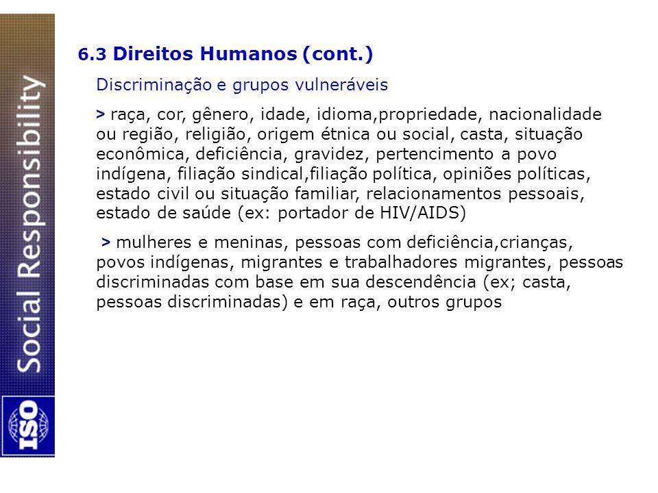 6.3 Direitos Humanos (cont.)