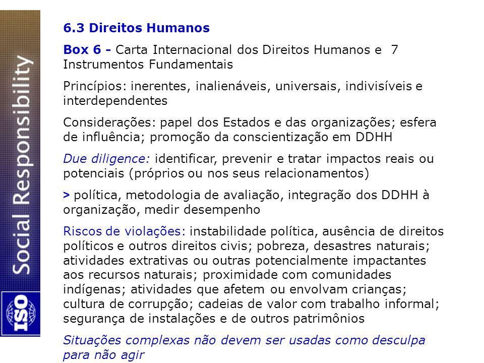6.3 Direitos Humanos Box 6 - Carta Internacional dos Direitos Humanos e 7 Instrumentos Fundamentais.