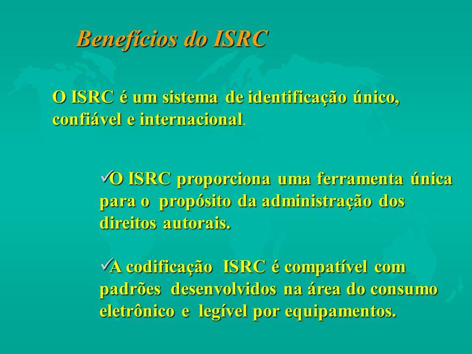 Benefícios do ISRC O ISRC é um sistema de identificação único, confiável e internacional.