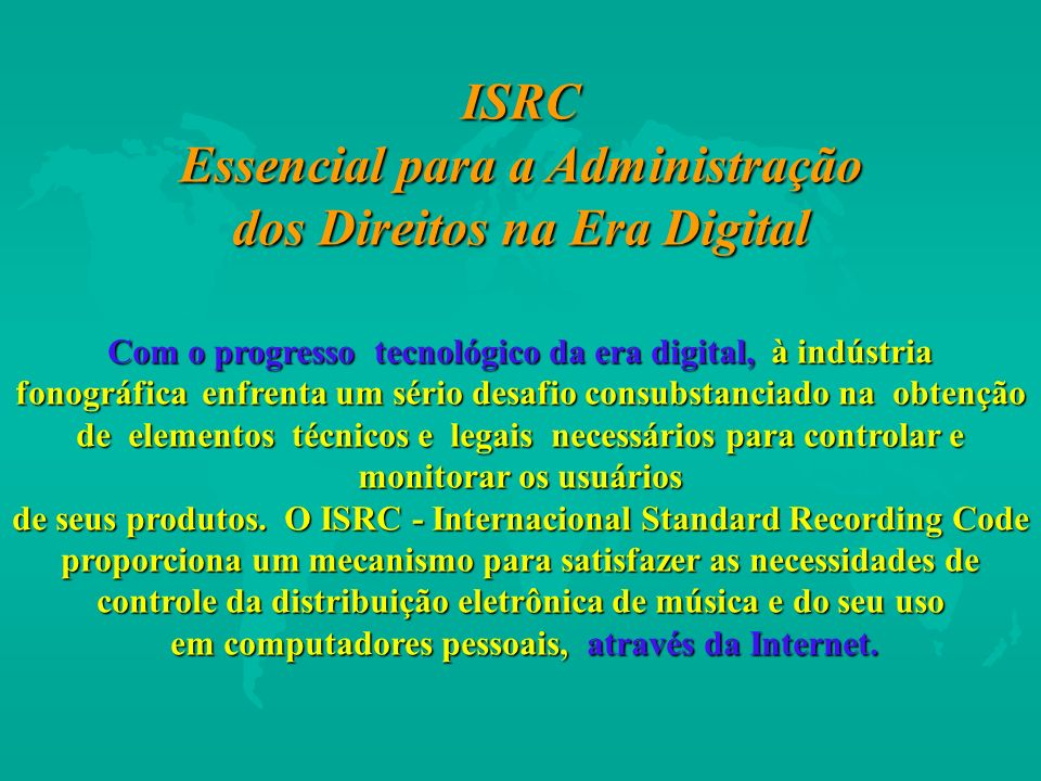 ISRC Essencial para a Administração