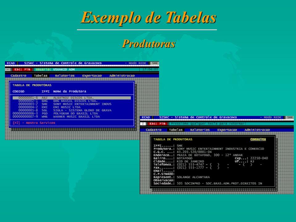 Exemplo de Tabelas Produtoras 18