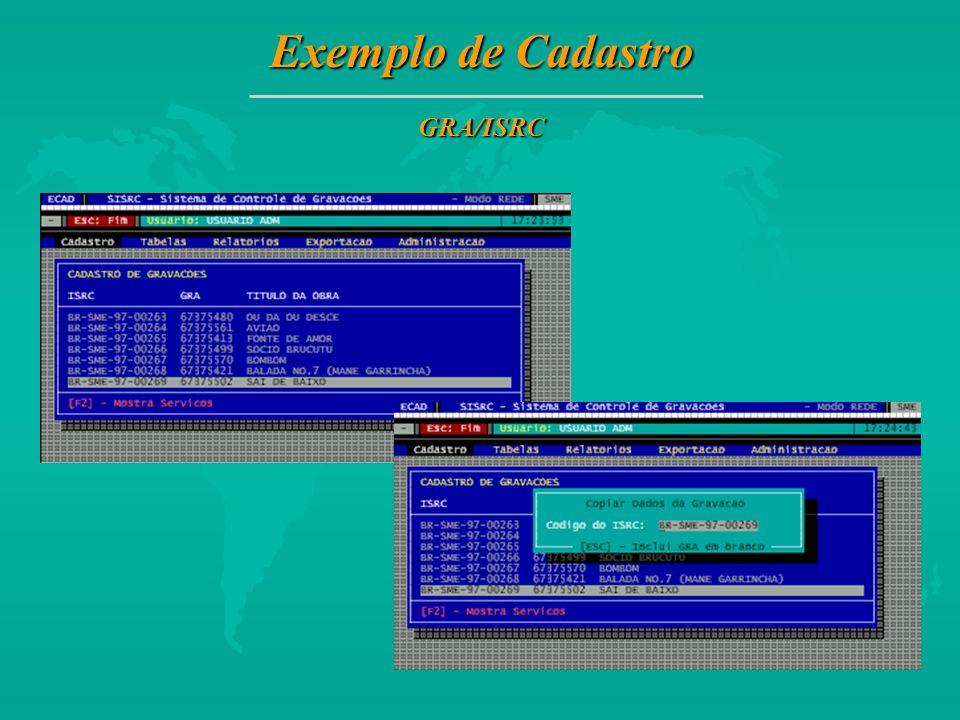 Exemplo de Cadastro GRA/ISRC 24