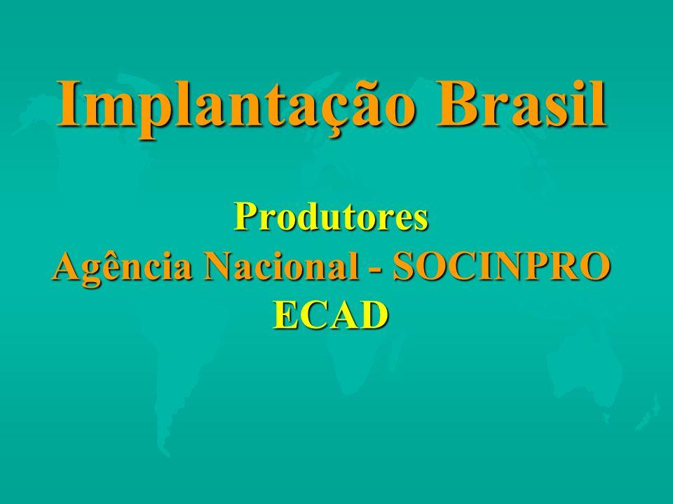 Implantação Brasil Produtores Agência Nacional - SOCINPRO ECAD