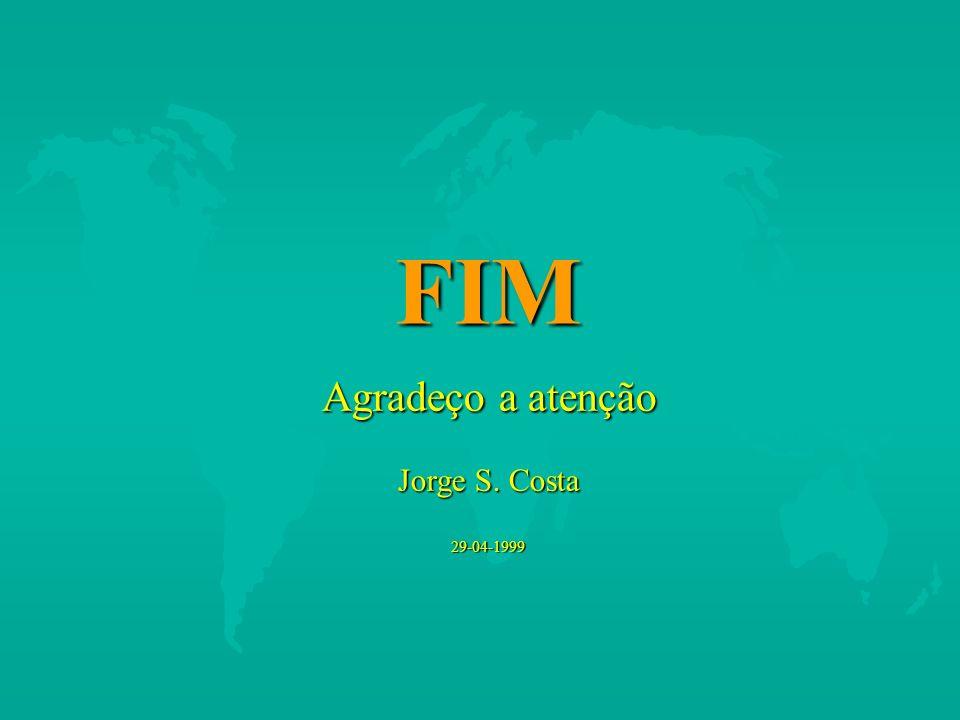 FIM Agradeço a atenção Jorge S. Costa 29-04-1999