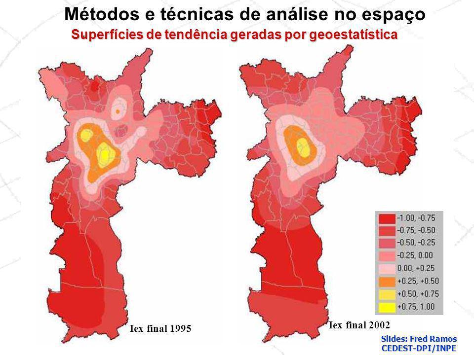 Superfícies de tendência geradas por geoestatística