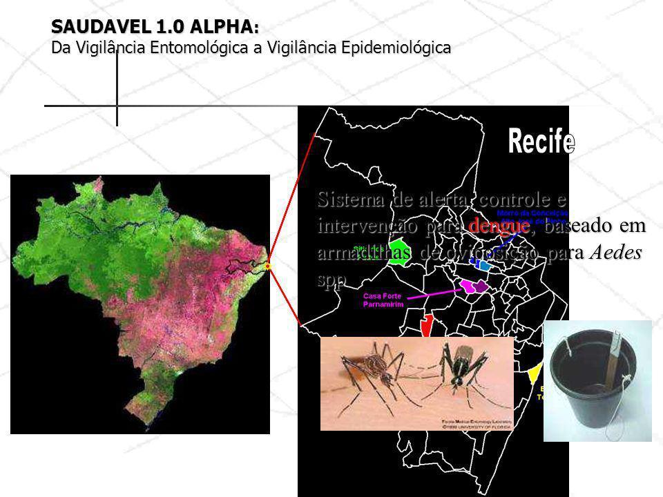 SAUDAVEL 1.0 ALPHA: Da Vigilância Entomológica a Vigilância Epidemiológica. Recife.