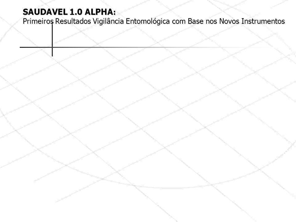 SAUDAVEL 1.0 ALPHA: Primeiros Resultados Vigilância Entomológica com Base nos Novos Instrumentos