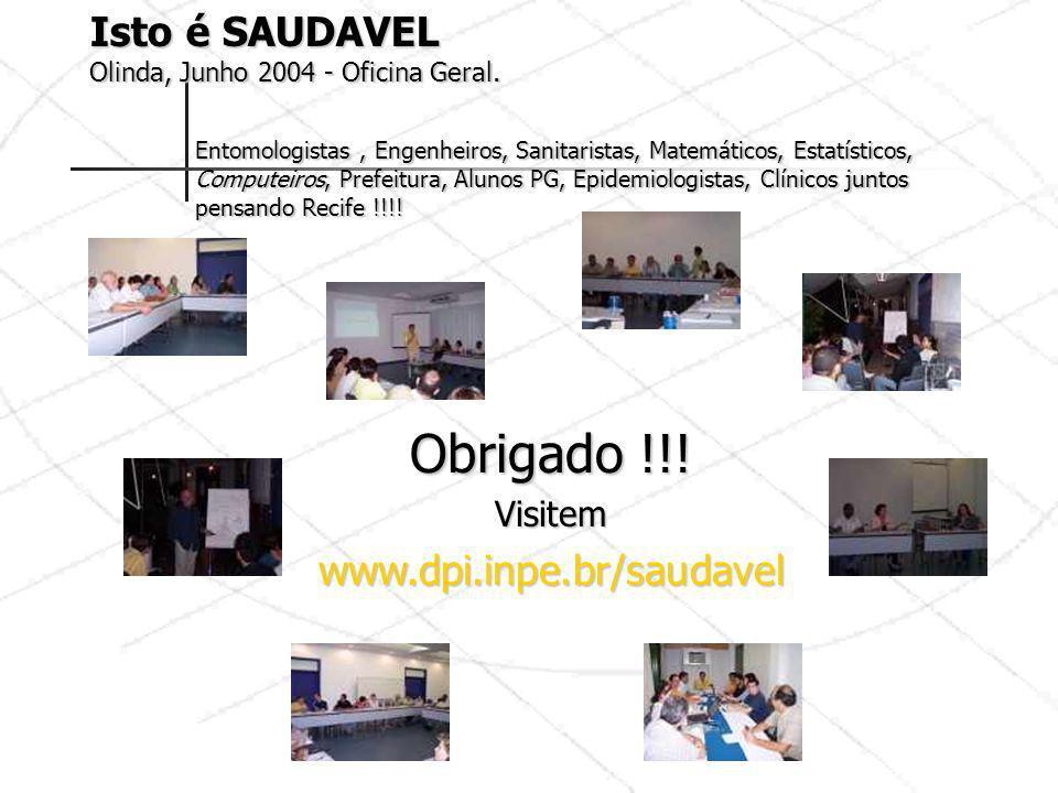 Obrigado !!! Isto é SAUDAVEL www.dpi.inpe.br/saudavel Visitem