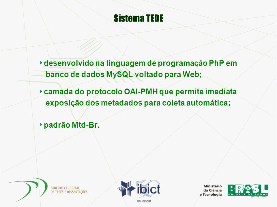 Sistema TEDE desenvolvido na linguagem de programação PhP em