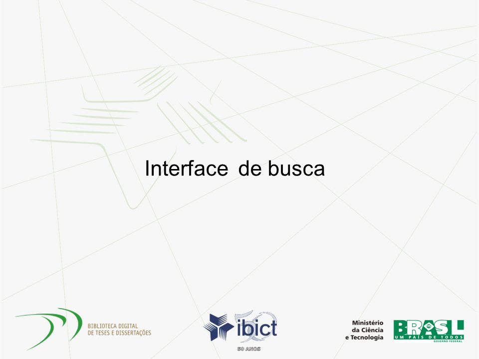 Interface de busca
