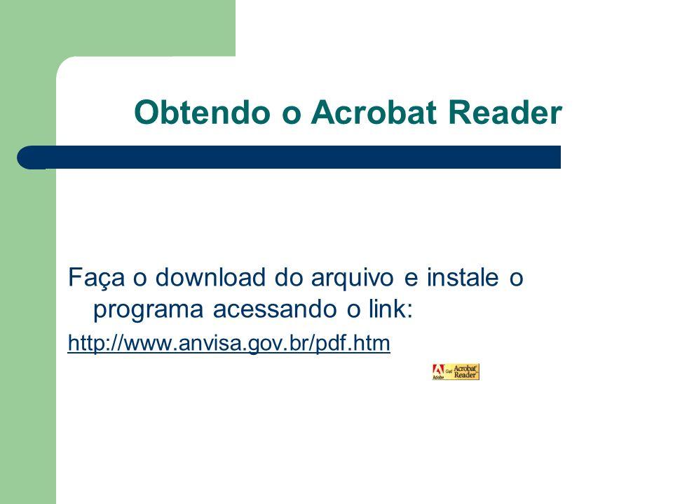 Obtendo o Acrobat Reader