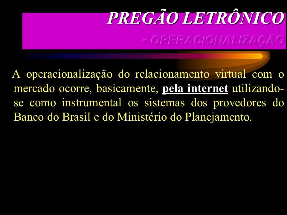 PREGÃO LETRÔNICO - OPERACIONALIZAÇÃO