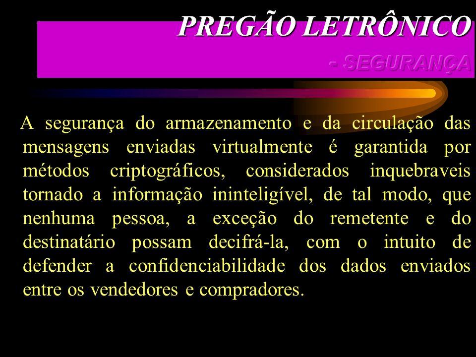 PREGÃO LETRÔNICO - SEGURANÇA
