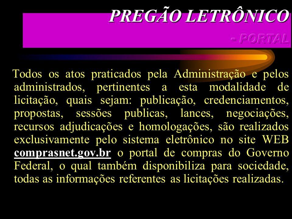 PREGÃO LETRÔNICO - PORTAL