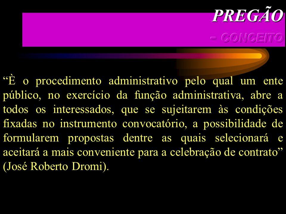 PREGÃO - CONCEITO