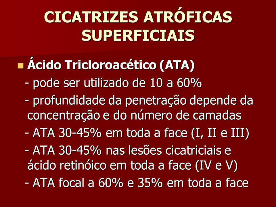 CICATRIZES ATRÓFICAS SUPERFICIAIS