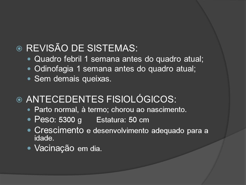 ANTECEDENTES FISIOLÓGICOS: