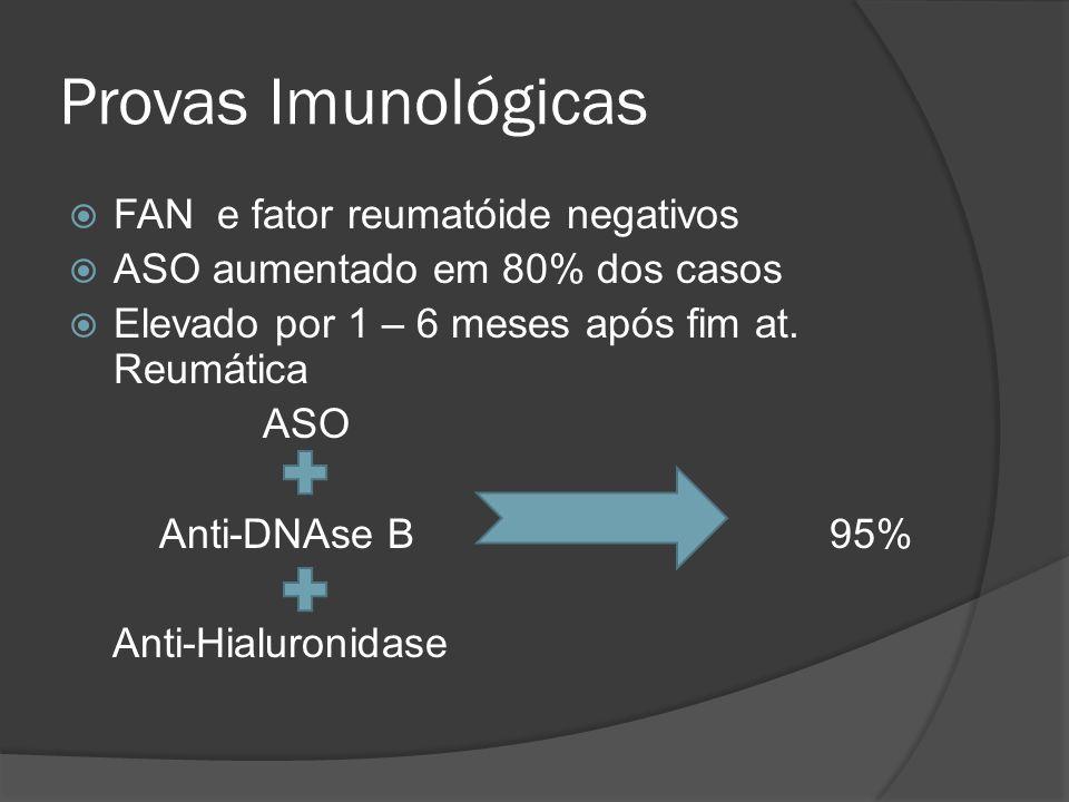Provas Imunológicas FAN e fator reumatóide negativos