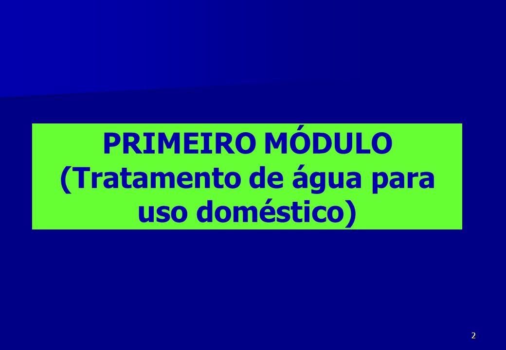 PRIMEIRO MÓDULO (Tratamento de água para uso doméstico)