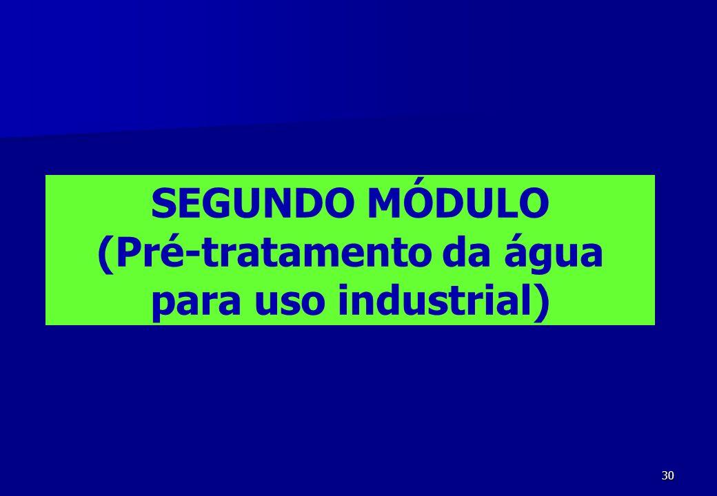 SEGUNDO MÓDULO (Pré-tratamento da água para uso industrial)
