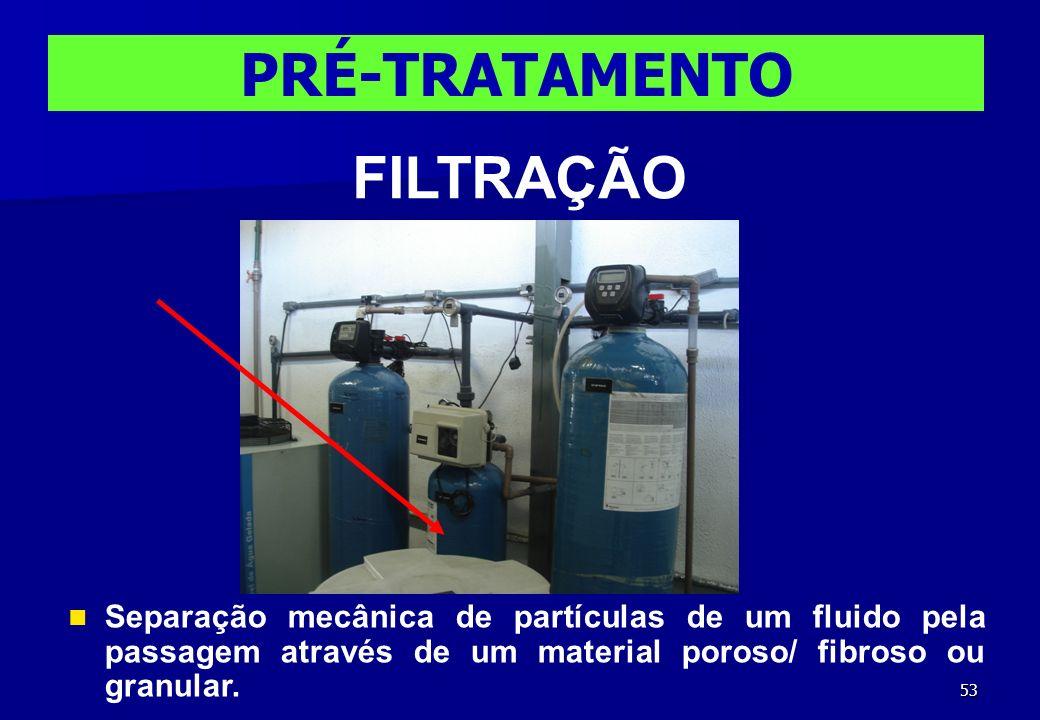 PRÉ-TRATAMENTO FILTRAÇÃO