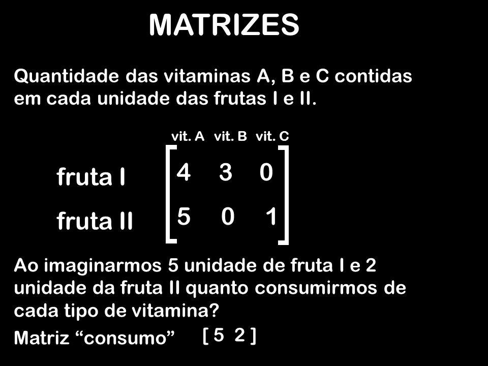 MATRIZES 4 3 5 1 fruta I fruta II