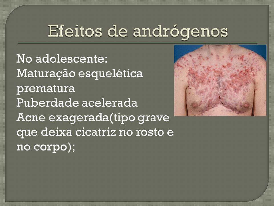 Efeitos de andrógenos
