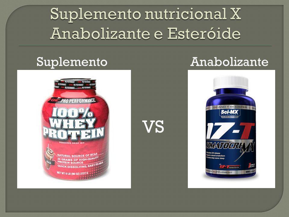 Suplemento nutricional X Anabolizante e Esteróide