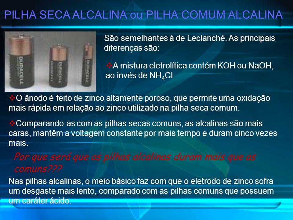 PILHA SECA ALCALINA ou PILHA COMUM ALCALINA