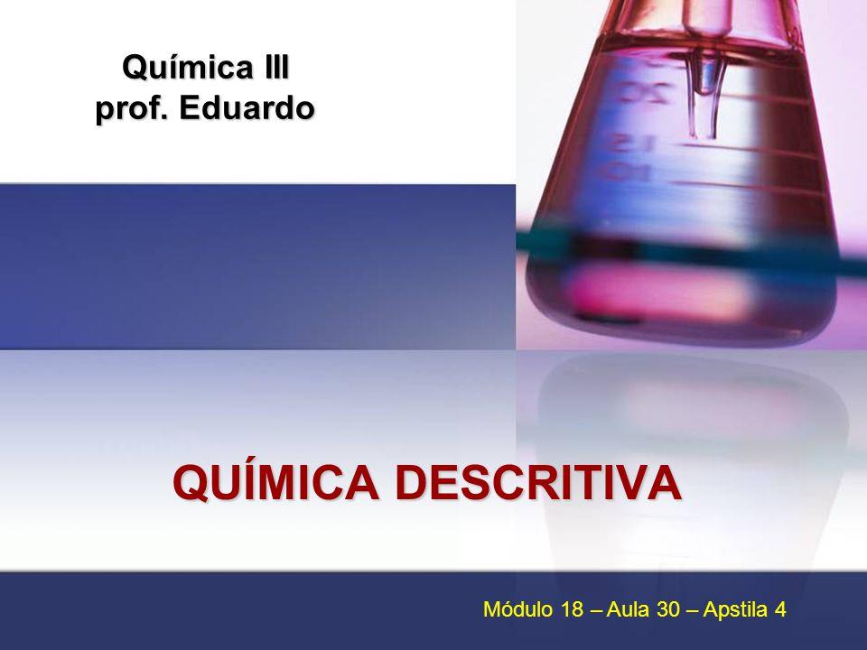 Química III prof. Eduardo