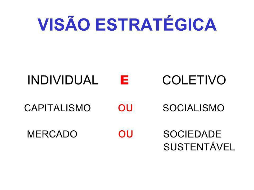 VISÃO ESTRATÉGICA INDIVIDUAL E COLETIVO CAPITALISMO OU SOCIALISMO