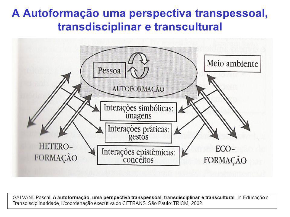 A Autoformação uma perspectiva transpessoal, transdisciplinar e transcultural
