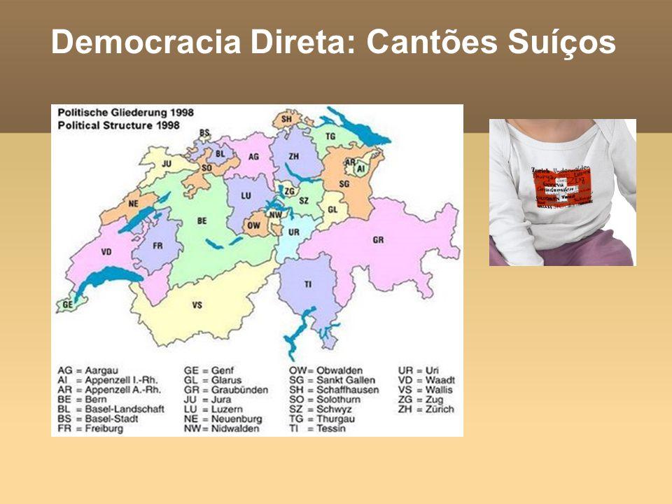 Democracia Direta: Cantões Suíços