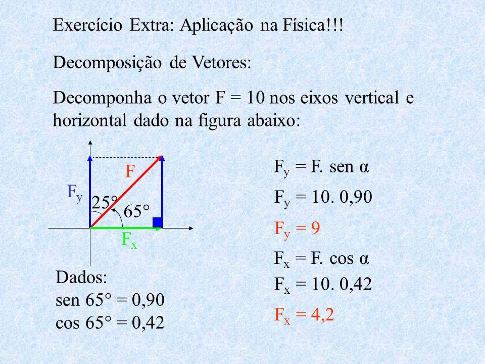 Exercício Extra: Aplicação na Física!!!