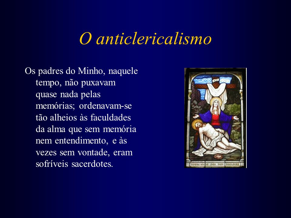 O anticlericalismo