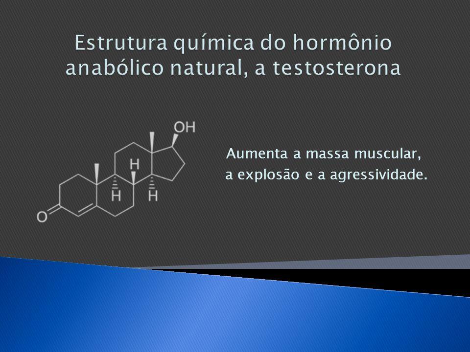 Estrutura química do hormônio anabólico natural, a testosterona