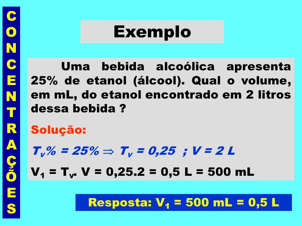 Exemplo CONCENTRAÇÕES