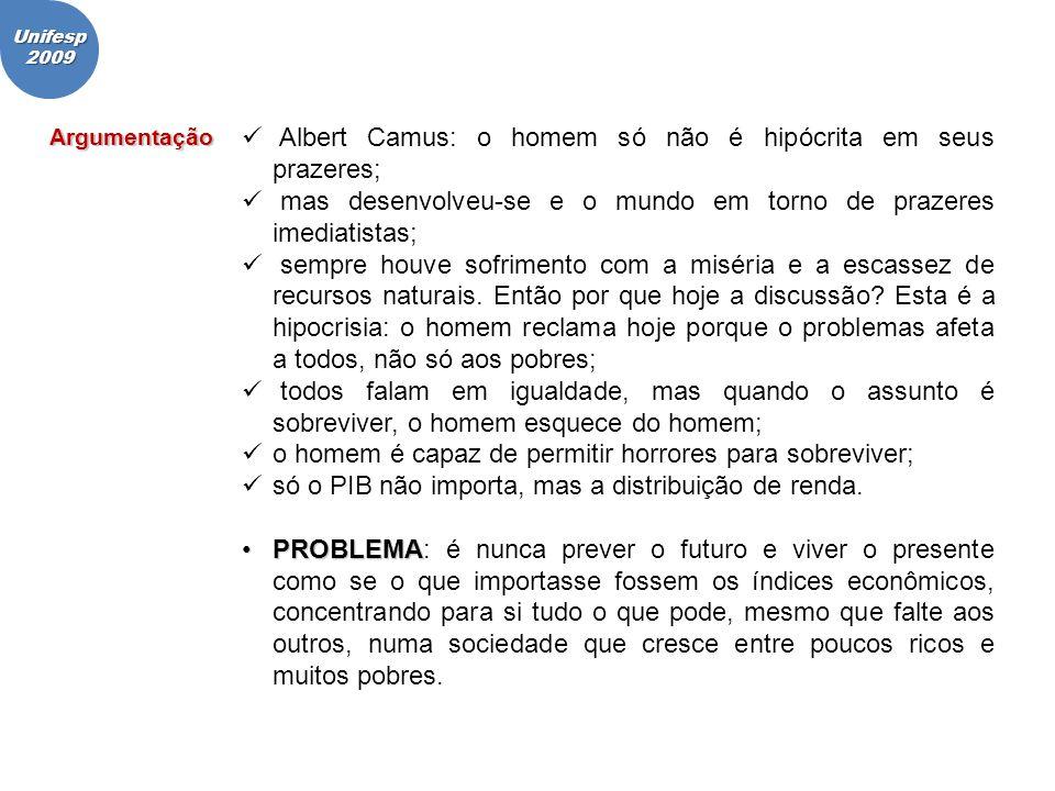 Albert Camus: o homem só não é hipócrita em seus prazeres;