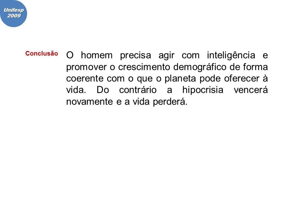 Unifesp 2009. Conclusão.