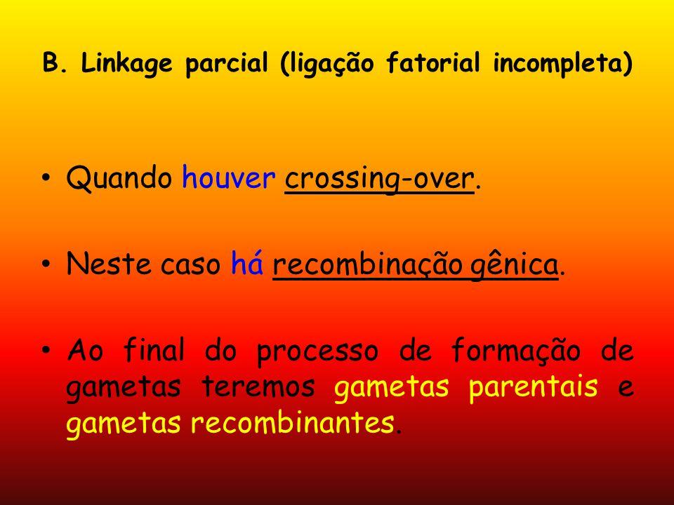 B. Linkage parcial (ligação fatorial incompleta)