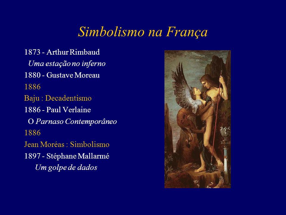 Simbolismo na França 1873 - Arthur Rimbaud Uma estação no inferno