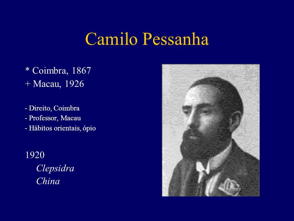 Camilo Pessanha * Coimbra, 1867 + Macau, 1926 1920 Clepsidra China