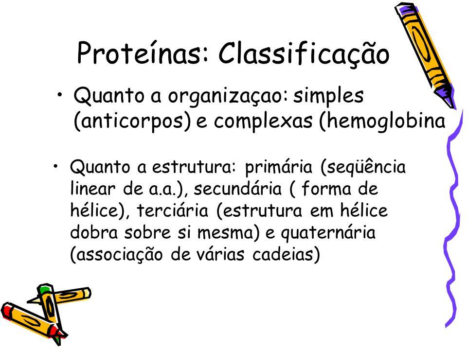 Proteínas: Classificação