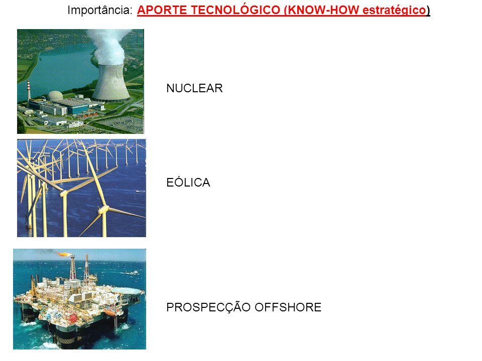 Importância: APORTE TECNOLÓGICO (KNOW-HOW estratégico)
