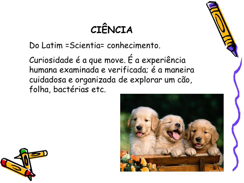 CIÊNCIA Do Latim =Scientia= conhecimento.